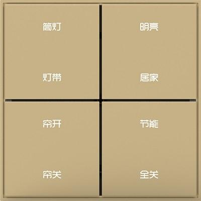 8按键干接点输出面板(镂空大字带框)