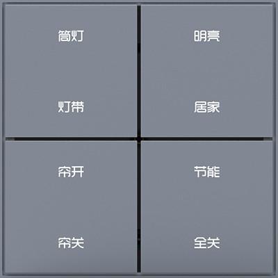 8按键智能场景面板(高配版带框)